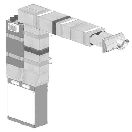 Przykład montażu we wnęce ściennej